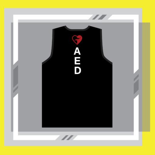 ภาพเสื้อ AED กระตุกหัวใจ ด้านหลัง