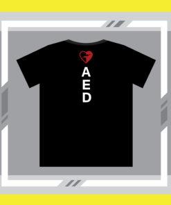 ภาพด้านหลังของเสื้อ AED กระตุกหัวใจ แบบแขนสั้น