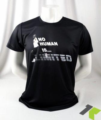 เสื้อ No Human is limited แขนสั้น สีดำ ด้านหน้า